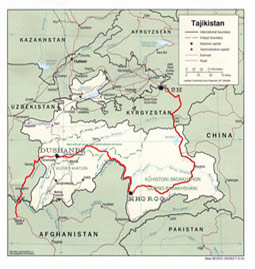 pamir highway map