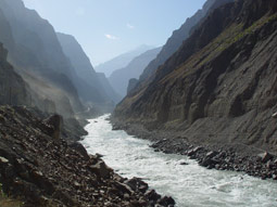 pyanj canyon from pamir highway