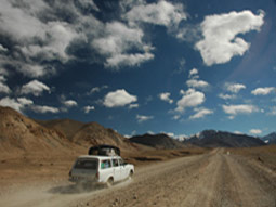 taxi on pamir highway